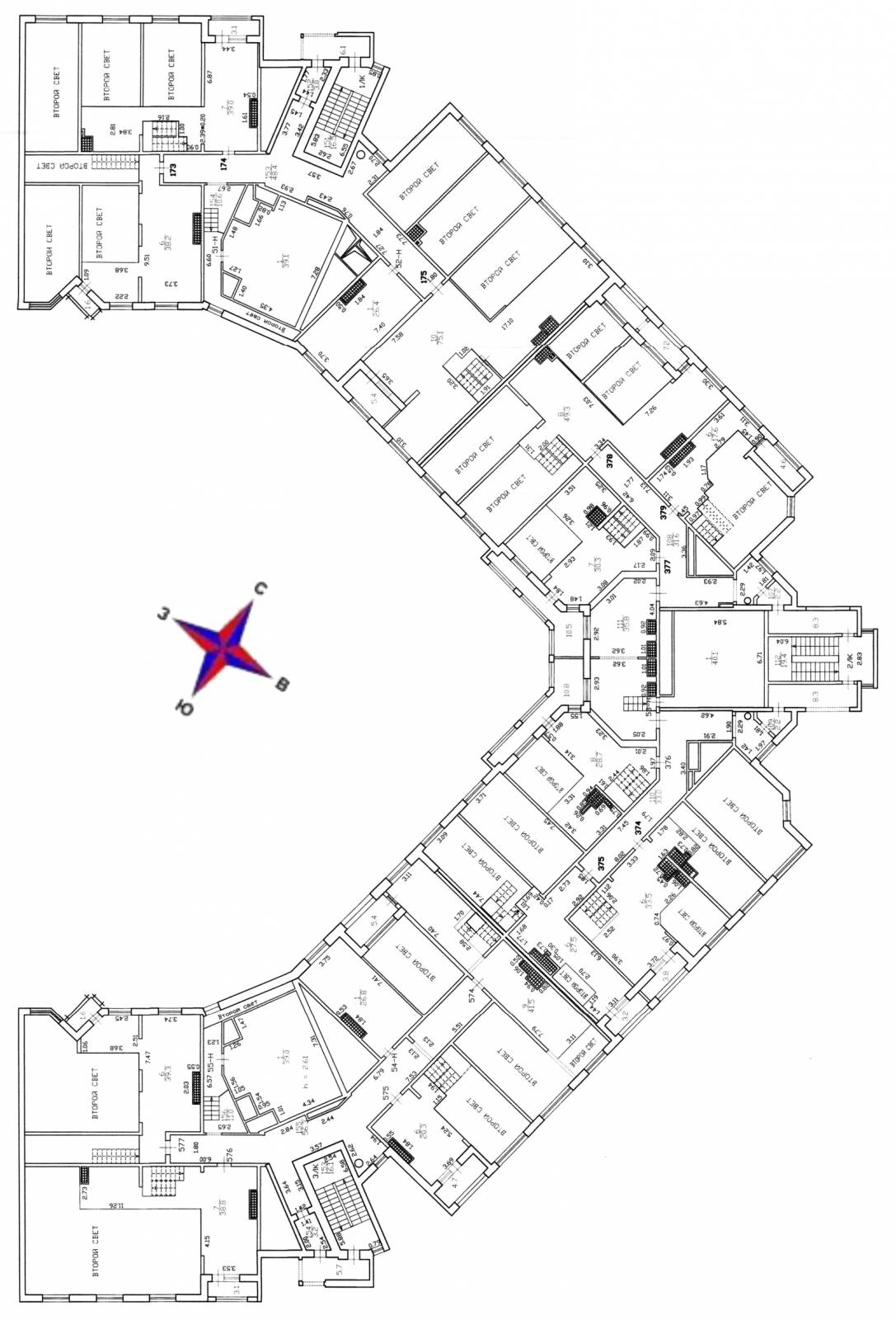 План 26 этажа