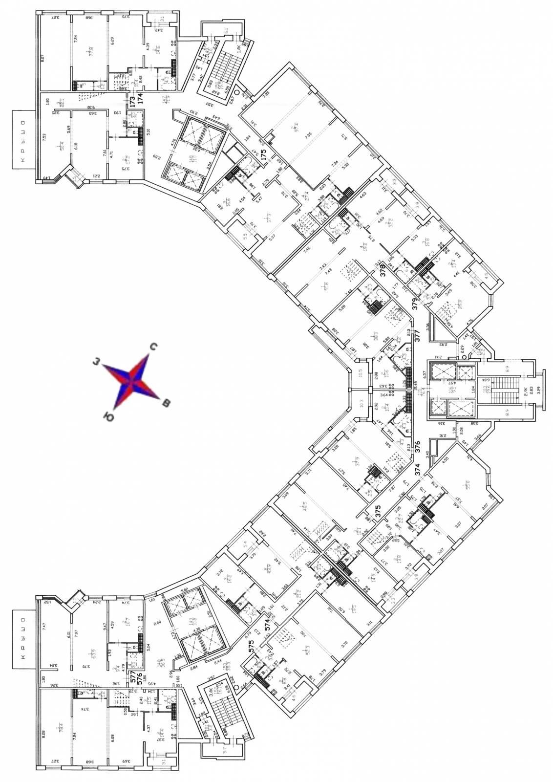План 25 этажа